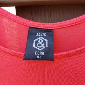Agnes & Dora Tops - Agnes and Dora Coral and White Daydream Tunic